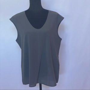 J.Crew Gray Sleeveless Gray Blouse Size 14